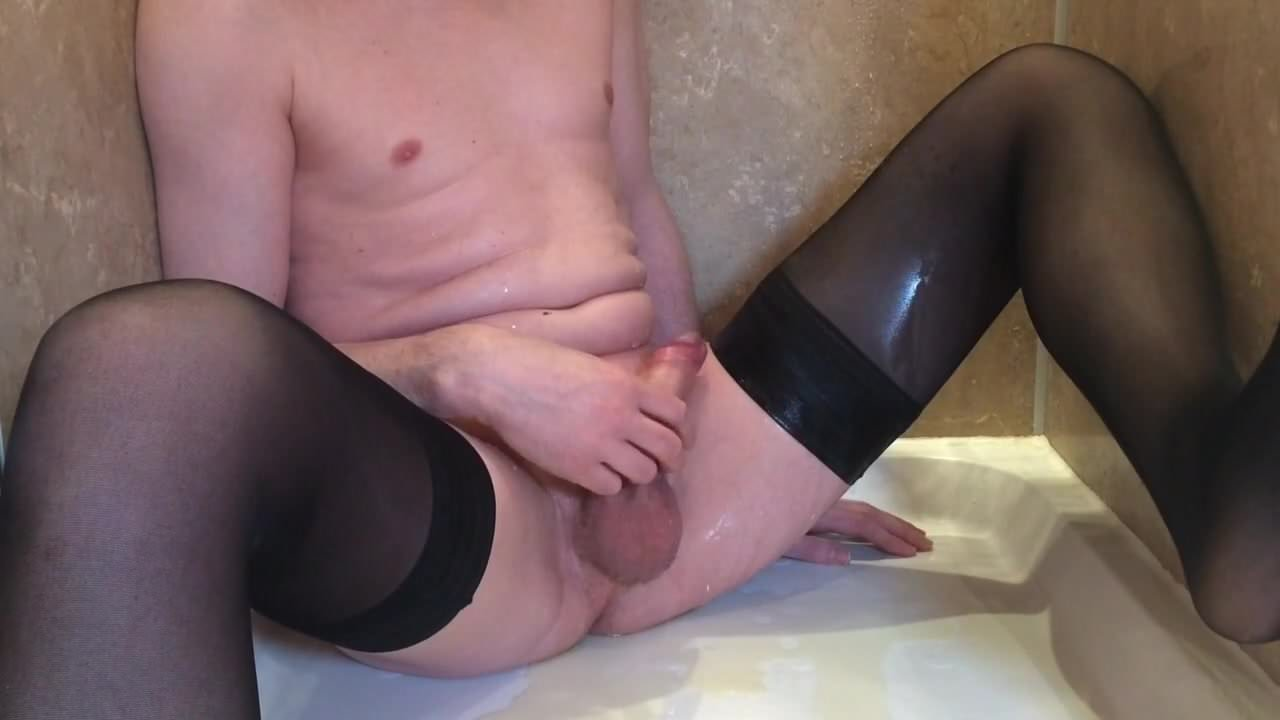 time Huge first stockings pissing